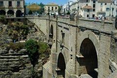 The Puente Nuevo bridge in Ronda, Andalusia, Spain Stock Photography
