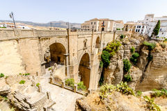 The Puente Nuevo bridge in Ronda Royalty Free Stock Images