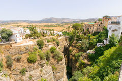The Puente Nuevo bridge in Ronda Stock Image