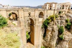 The Puente Nuevo bridge in Ronda Stock Photos