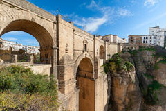 Puente Nuevo Bridge in Ronda Spain Stockfotos
