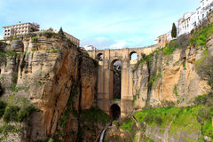 Puente Nuevo bridge, in Ronda, Spain Stock Photography