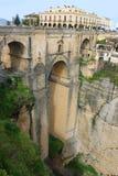 Puente Nuevo bro, i Ronda, Spanien Arkivbild