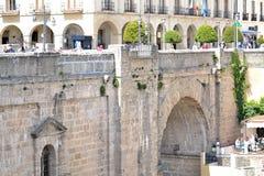 Puente Nuevo bro i Ronda, Spanien Arkivfoto