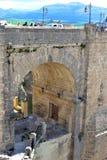 Puente Nuevo bro i Ronda, Spanien Fotografering för Bildbyråer
