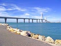 Puente nuevo de Cádiz capital, España Royalty Free Stock Photography
