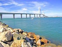 Puente nuevo de Cádiz capital, España Royalty Free Stock Photos