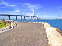 Puente nuevo de Cádiz capital, España Royalty Free Stock Photo