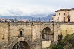 Puente Nuevo (den nya bron), Ronda, Spanien Royaltyfria Bilder