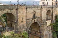 Puente Nuevo (den nya bron), Ronda, Spanien Arkivbild