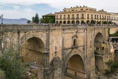 Puente Nuevo (den nya bron), Ronda, Spanien Fotografering för Bildbyråer