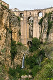 Puente Nuevo (den nya bron), Ronda, Spanien Royaltyfria Foton