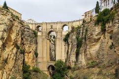 Puente Nuevo (den nya bron), Ronda, Spanien Arkivbilder