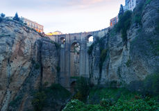 Puente Nuevo in early morning. Ronda, Spain Stock Images