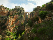 Puente Nuevo in El Tajo gorge, Ronda. Royalty Free Stock Photo