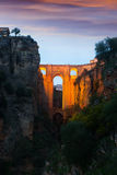 Puente Nuevo in evening. Ronda, Spain Royalty Free Stock Images