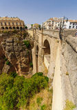 The Puente Nuevo bridge in Ronda Stock Photography