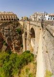 The Puente Nuevo bridge in Ronda Stock Photography