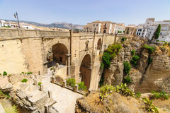 The Puente Nuevo bridge in Ronda Royalty Free Stock Image