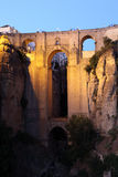 Puente Nuevo at night. Ronda Stock Photo