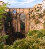 Puente Nuevo, ny bro, i Ronda, Spanien Royaltyfri Foto
