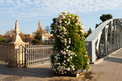 Puente Nuevo over Segura  with Cathedral in background. Murcia Royalty Free Stock Photo