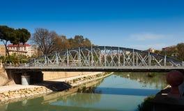 Puente Nuevo  over Segura in sunny day. Murcia Stock Photos