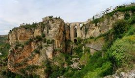 Puente Nuevo & Río Guadalevín waterfall in Ronda, Spain Royalty Free Stock Image