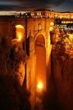 Puente Nuevo, Ronda, AndalucÃa, Испания стоковые изображения