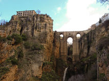 The Puente Nuevo In Ronda. New bridge in Ronda over the gorge Royalty Free Stock Photo