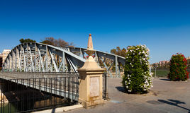 Puente Nuevo in sunny day. Murcia. Spain royalty free stock images
