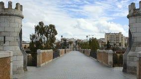 Puente Palmas en Badajoz almacen de metraje de vídeo