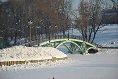 Puente peatonal agraciado Foto de archivo