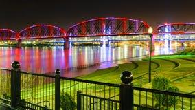Puente peatonal de Big Four Foto de archivo