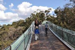Puente peatonal de Park de rey Foto de archivo