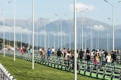 Puente peatonal en el autodrom de Sochi Fotografía de archivo libre de regalías
