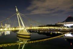 Puente peatonal, Singapur Fotografía de archivo