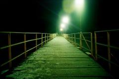 Puente pontón Imágenes de archivo libres de regalías
