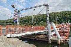 Puente pontón Imagen de archivo libre de regalías