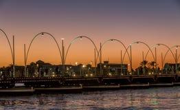 Puente pontón de Emma por puesta del sol Fotografía de archivo libre de regalías