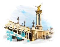 Puente - Pont Alejandro III Imágenes de archivo libres de regalías