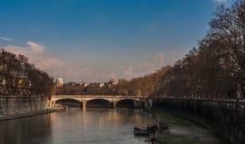 Puente Ponte Vittorio Emanuele II Imagen de archivo libre de regalías