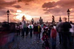Puente Praga de Charles Fotos de archivo libres de regalías