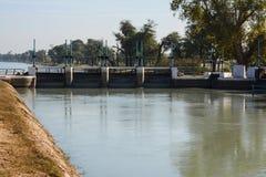 Puente principal sobre el canal de la rama de Mohajir Foto de archivo libre de regalías