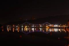 Puente que brilla intensamente Fotografía de archivo libre de regalías