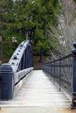 Puente que camina cercado con barandilla hierro Fotografía de archivo libre de regalías