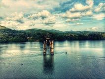 Puente quebrado Imagen de archivo libre de regalías