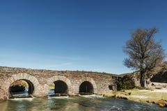 Puente rústico Foto de archivo libre de regalías