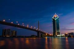 Puente rama9 de Bangkok Tailandia Foto de archivo