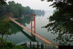Puente Rangamat de Jhulanto Fotografía de archivo